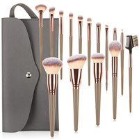 FLD 7/16 stücke Professionelle Make-Up Pinsel Set Tasche Foundation Wimpern Augenbraue Lidschatten Kosmetik Bilden Werkzeug Brochas De Maquillaje