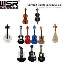 usb2.0 pen drive 8gb 16gb cartoon guitar musical instrument  usb memory 32gb  64gb real capacity disc on key 128gb portable gift