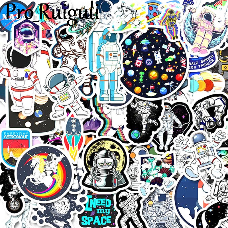 10/30/50pcs Space Astronaut Stickers Paster Cartoon Characters Anime Movie Funny Decals Scrapbooking Diy Phone Laptop Decoration
