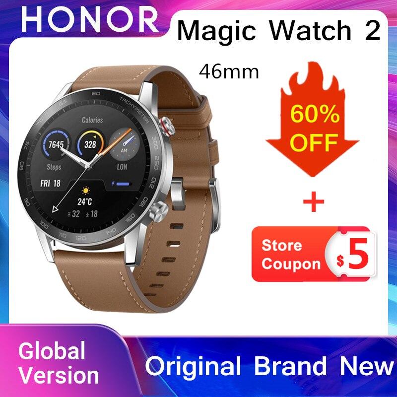 Honor Magic Watch 2 Global Version 46mm Smartwatch Bluetooth 5.1 Waterproof Sports 14 Days Smart Watch HONOR Original Brand New