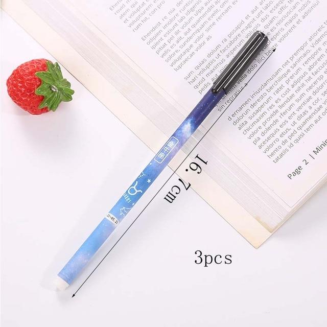 12 pièces/lot Kawaii Constellation Gel stylo 0.5mm encre noire ciel étoilé stylos pour école bureau écriture fournitures étudiant papeterie