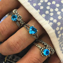 1pcs Sapphire Fashion Suit Ring Party Favors Rings Alloy Ring for Men and Women Finger Rings Party Gifts Supplies Souvenir(China)