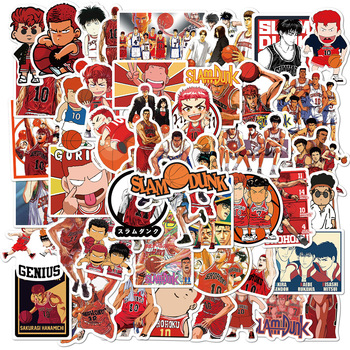 10/30/50/100PCS Anime Slam Dunk Graffiti Sticker For Luggage Laptop Skateboard Phone Case PVC Sticker Children Toy Gift image