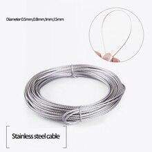 От 20 до 50 метров 304 провод из нержавеющей стали гибкий провод alambre кабель Мягкий водонепроницаемый rustproof подъемный кабель линия