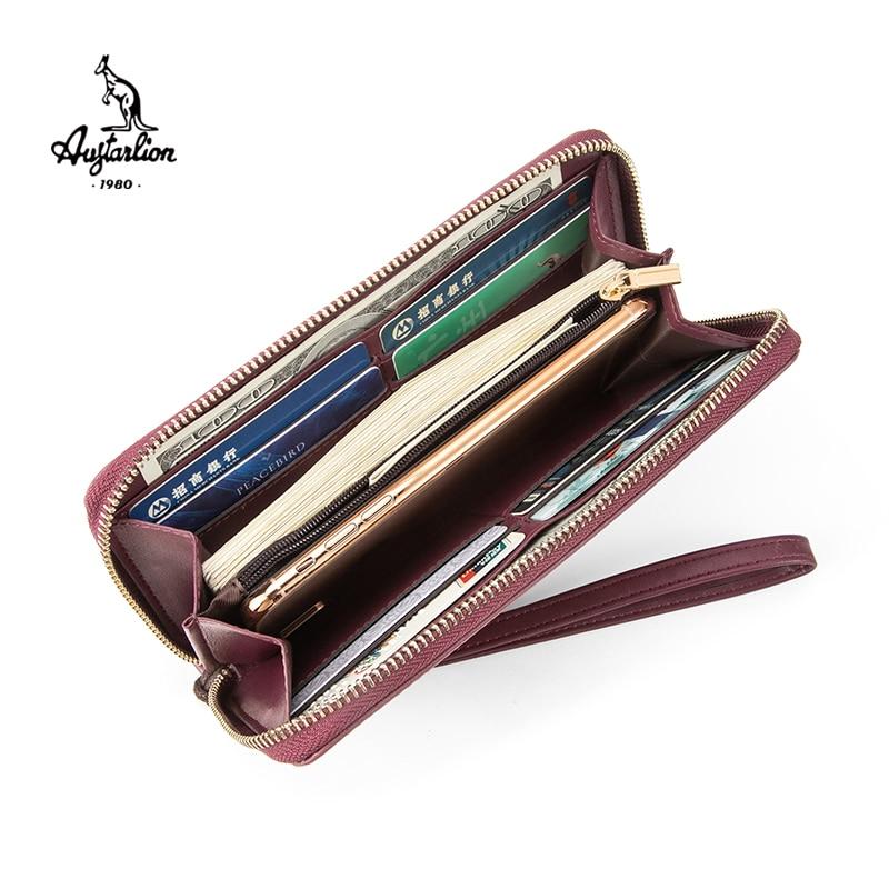 Top Brand AUGTARLION Women Wallet Fashion Lady Wristlet Handbags Long Money Bag Zipper Coin Purse Cards ID Holder Clutchn Wallet