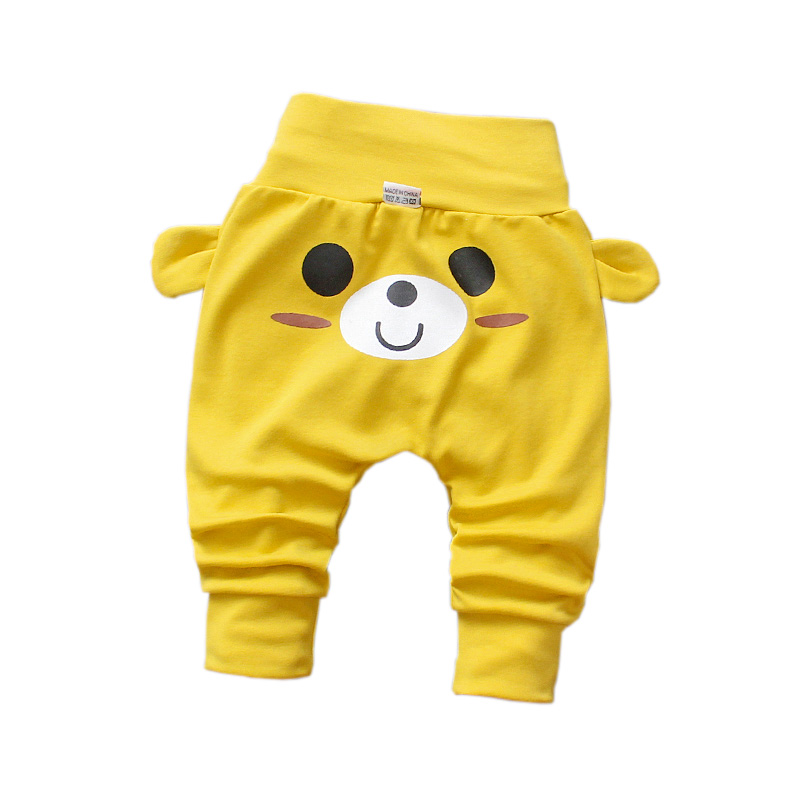 New Cute Baby Pants Spring Autumn Casual Fashion Children's Cartoon Printing Cotton Trousers Kids Pants