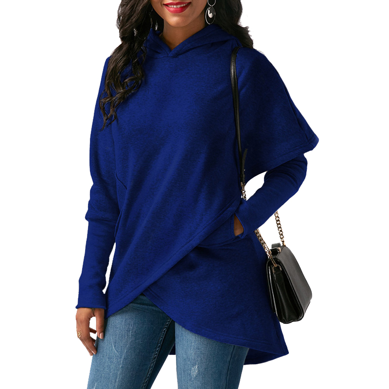 Women Hoodies Sweatshirts Autumn Winter Long Sleeve Pocket Pullover Hoodie 4
