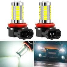 2 pçs h8 h11 lâmpadas de carro led luzes de nevoeiro para chevrolet cruze 2009-2017 malibu trax para ford focus 2 3 4 mk2 mk3 mk4