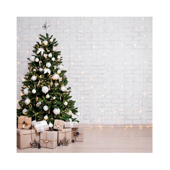 Christmas Backdrop White Brick Wall Light Baby Portrait Vinyl Photography Backdrops Photographic Background For Photo Studio retro background sheet music photo studio vintage photography backdrops brick wall photo props vinyl 5x7ft or 3x5ft jiegq201