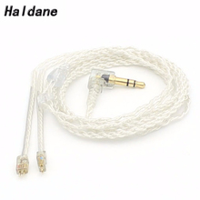 Free Shipping Haldane Single crystal copper  0.78mm 2 Pin Replacement Cable for Weston TFZ 1964 w4r um3x es3 es5 Earphone Cable