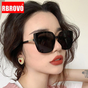 RBROVO Cateye Designer Sunglasses Women 2020 High Quality Retro Sunglasses Women Square Glasses Women/Men Luxury Oculos De Sol