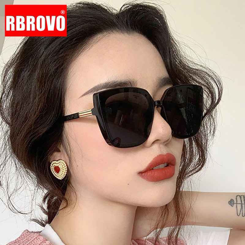 RBROVO Cateye Designer Sunglasses Women 2021 High Quality Retro Sunglasses Women Square Glasses Women/Men Luxury Oculos De Sol