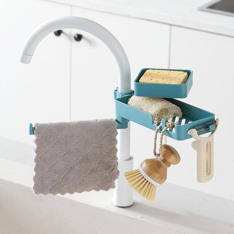 1Pcs Drain Rack Kitchen Multi Purpose Clip Type Pool Rag Soap Storage Rack Sponge Rack Useful Sink Shelf Tool Dish Cloths Rack|Racks & Holders|   - AliExpress