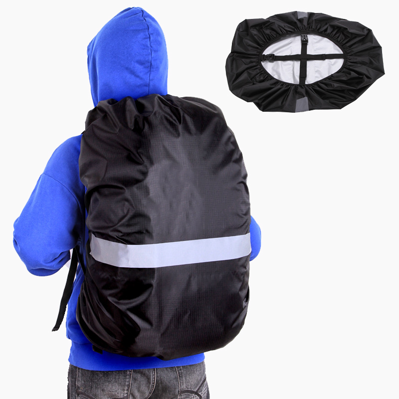 Reflective Outdoor Bag Cover Portable Waterproof Backpack Covers Ultralight Camping Rain Cover Protect Travel Accessories 35L