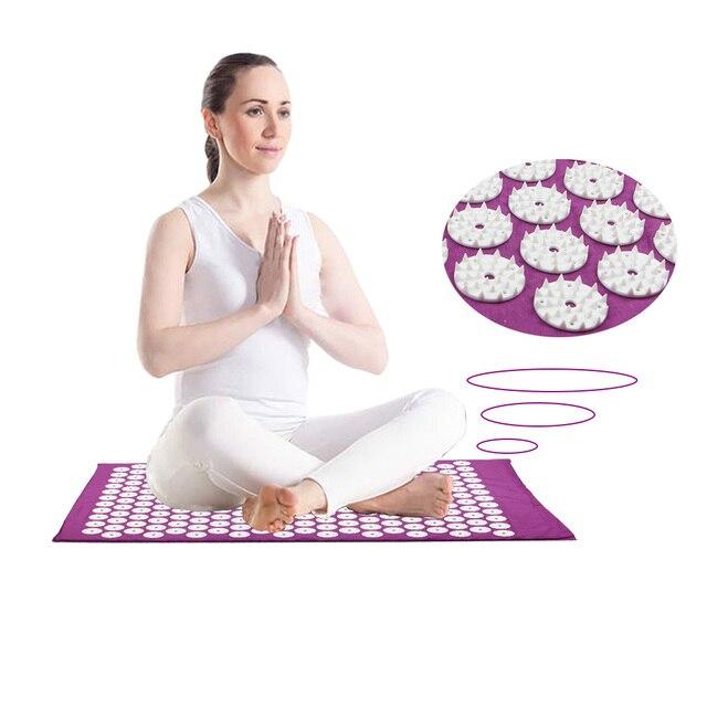 Massager (appro67*42cm) Cushion Acupressure Body Massage Relieve Stress Pain Massage Mat Mat Yoga Back Massager With Pillow 1