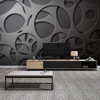 Custom 3D Mural Wallpaper Geometric Creative Living Room TV Backdrop Wall Decoration Painting Modern Bedroom Dining Room Fresco