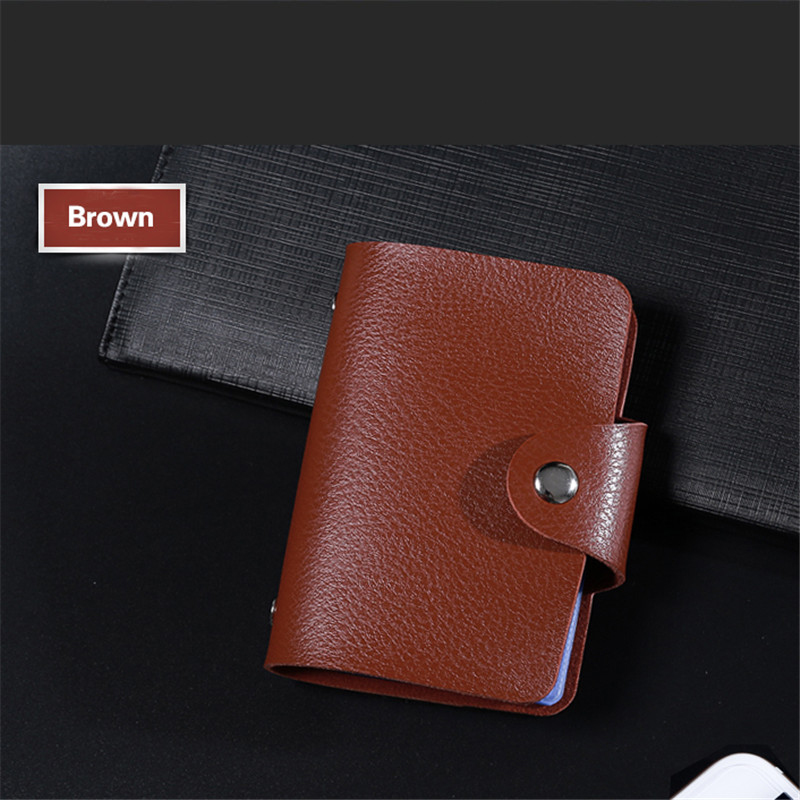 BISI GORO 12 Bits 24 Bits Smart Credit Card Holder Casual Soft Leather Men and Women ID Holder Multifunctional Wallet Money Bag