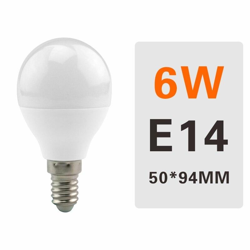 E27 E14 LED Bulb Lamps 3W 6W 9W 12W 15W 18W 20W Lampada Ampoule Bombilla LED Light Bulb AC 220V 230V 240V Cold/Warm White - Испускаемый цвет: 6W E14
