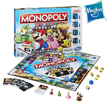 Original Hasbro Monopoly Super Mario Princess Peach Yoshi Donkey Kong Board Game Family Party 2-4 Players Ages 8+ Adult Kids Toy