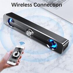 Usb com fio poderosa barra de alto-falante do computador estéreo subwoofer baixo alto-falante surround caixa de som para computador portátil telefone tablet mp3 mp4