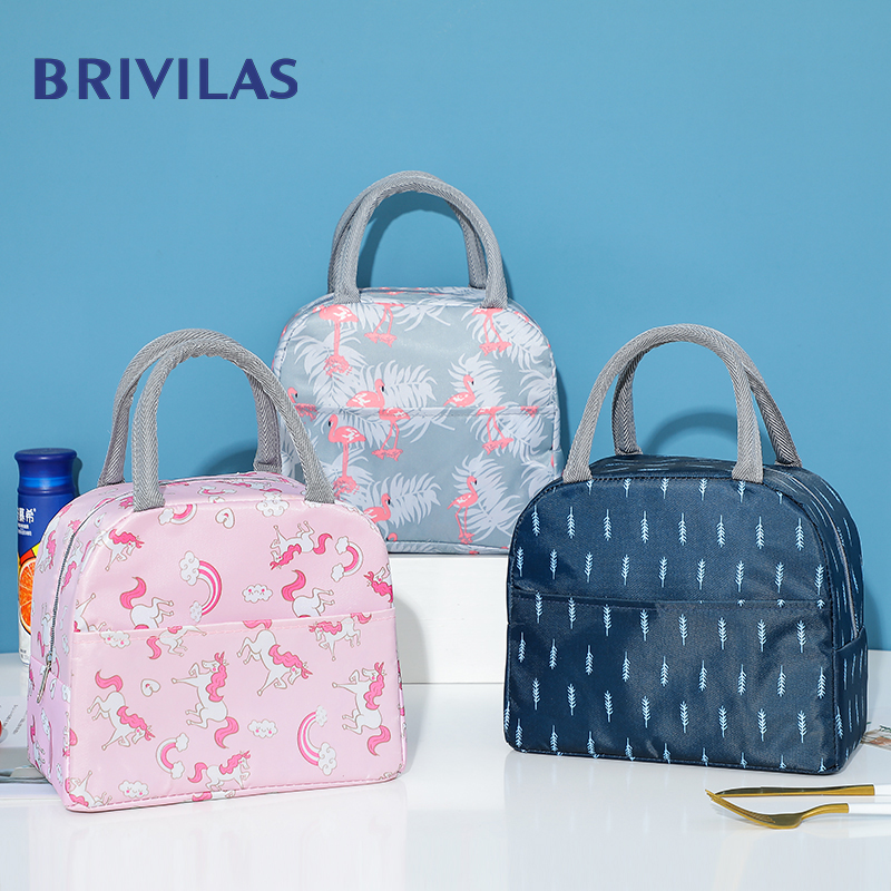 Brivilas Lunch Bag For Wwomen Insulation Portable Waterproof Cooler Bags  Kids Tote Bolso Travel Picnic Food Bags Lunch Box Case