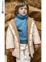 Minibalabala Children cotton clothing boy cotton jacket 2019 winter new baby lamb hair hooded cotton coat