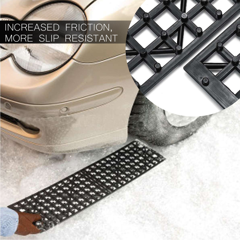 2Pcs Winter Snow Ice Mud Road Car Tire Skid Plate Vehicle Snow Chains Tire Recovery Traction Mat Self Rescue Board Car Parts