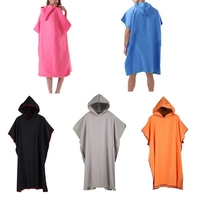 Diving Solid Quick drying Swimming Towel Cloak Sunscreen Super Absorb Changing Bath Surf Poncho Towel AHPU
