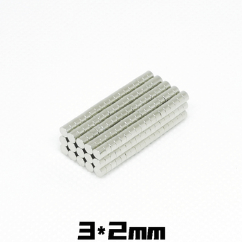 20/50/100Pcs 3x2 Neodymium Magnet 3mm x 2mm N35 NdFeB Round Super Powerful Strong Permanent Magnetic 3*2mm imanes Disc