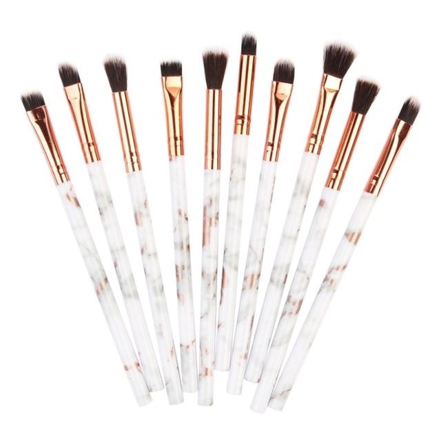 10Pcs/Set Makeup Brushes Professional Marbling Handle Powder Foundation Eyeshadow Lip Make Up Brushes Set Beauty Tools 3