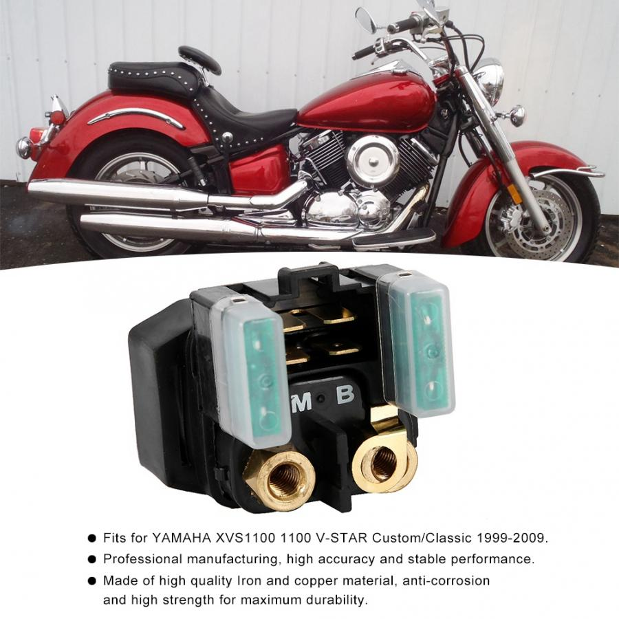 Motorcycle Starter Solenoid Relay for Yamaha XVS1100 V-Star Custom//Classic 1999-2009