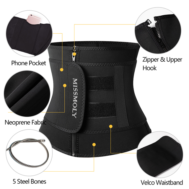 Neoprene Waist Trainer Corset Sauna Sweat Belt Slimming Body Shaper Abdominal Trimmer Shapewear Modeling Straps Weight Loss Faja 3