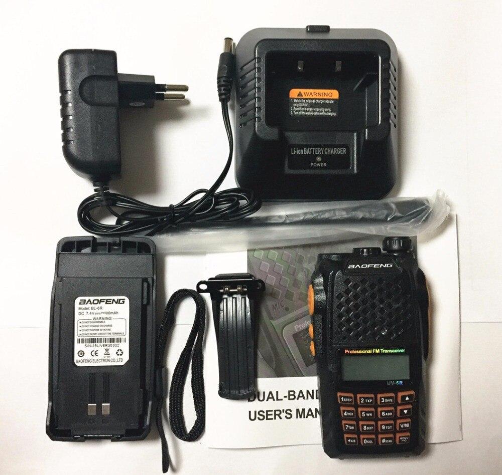 2pcs Baofeng UV-6R Walkie Talkie 7 watts Dual band Two Way Radio Pofung UV6R  HF Transceiver telsiz UV 6R Ham cb Radio station 6