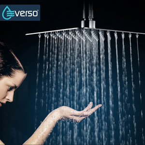 Image 1 - Big Shower Head 304 Stainless Steel Square 8 inch Waterfall Chrome Finished High Pressure Ceiling Rain Ceiling Shower Head