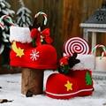 Горячая распродажа рождественских ботинок для конфет украшения чулок для пожилых людей рождественские украшения Новогодняя продукция Под...