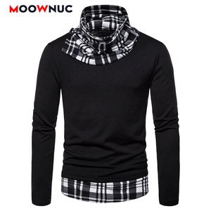 Мужской пуловер с соединением внакрой, модный Повседневный свитер в стиле смарт-кэжуал, для весны
