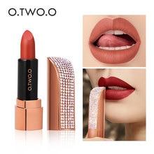Nude Lipstick Makeup O.TWO.O Moisture Matte Long-Lasting Waterproof 12-Colors Diamond