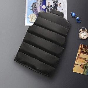 Image 4 - ฤดูหนาวผู้ชายสำหรับผ้าฝ้ายเสื้อแขนกุดเสื้อกั๊ก6XL 7XL 8XL 9XL Manขนาดใหญ่Mannen Black Royal blue Mens Coat
