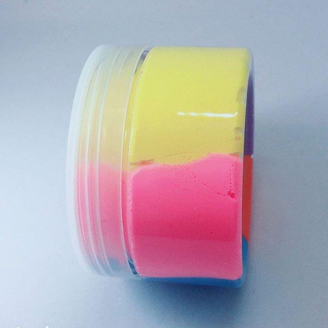 Jouets de bricolage pour enfants   Arc-en-ciel, peluche Slime, anti-Stress, taille Portable, couleur naturelle, couleur boue, cadeau pour enfants de 60ML