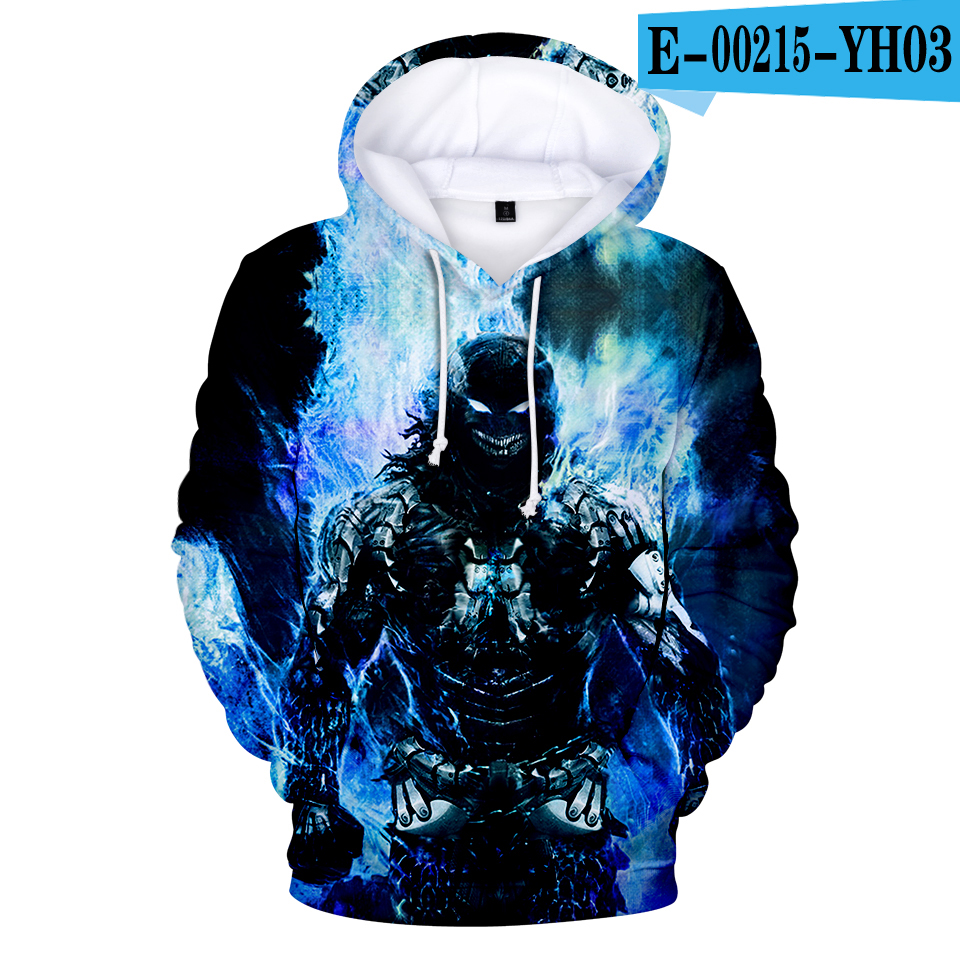 Hot Sale Personality Hoodies Wolf Sweatshirts Skull Hoodie Men's Harajuku Kids Hoodie Autumn Winter Clothes Adult And Child Size