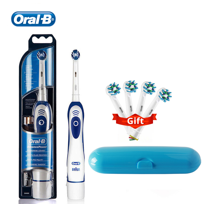 Oral B Electric Toothbrush With Travel Box Soft Brush Head Battery Powered Whiten Teeth 100% Waterproof