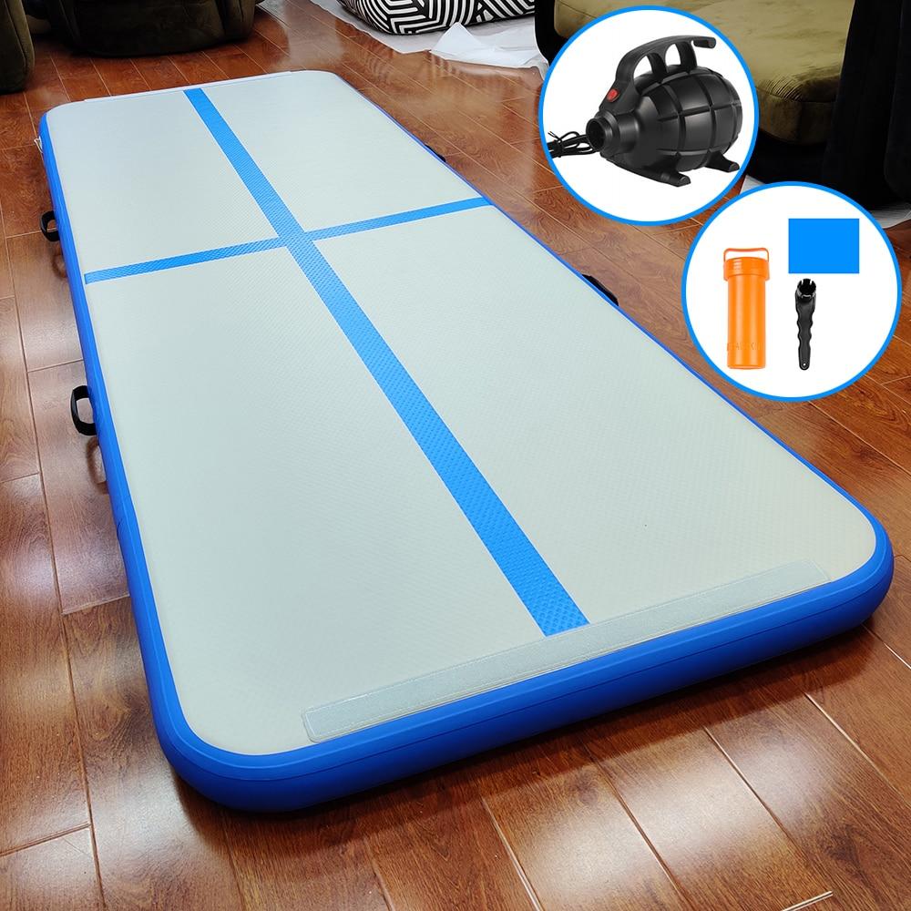Inflatable Tumbling Mat Gym Tranning Mattress Airtrack Gymnastics Mat 5m 4m 3m Yoga Mat Olympics Sports Flip Air Track Floor