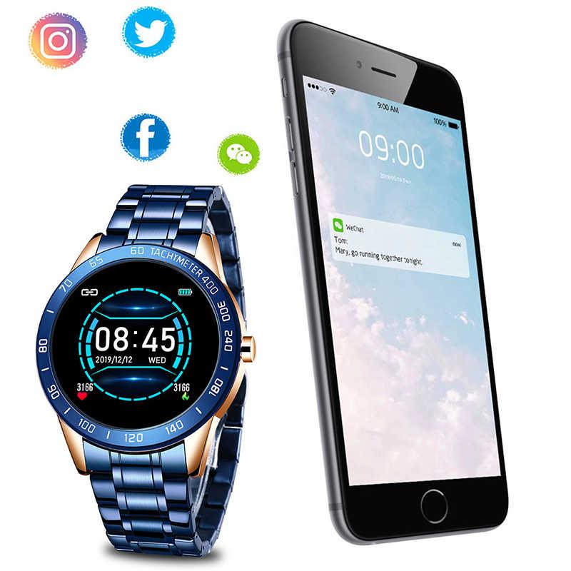LIGE 2020 ใหม่สมาร์ทนาฬิกาผู้ชาย LED Screen Heart Rate Monitor ความดันโลหิตฟิตเนส Tracker กีฬานาฬิกากันน้ำ Smartwatch + กล่อง