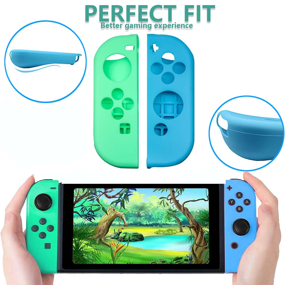 Animal Crossing Game Accessory Set For Nintendo Switch Travel Carrying Bag Protector Case Thumb Stick Grip Caps Charging Cable 5