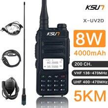 Двухсторонняя радиостанция ksun 8 Вт vhf uhf рация радио коммуникатор