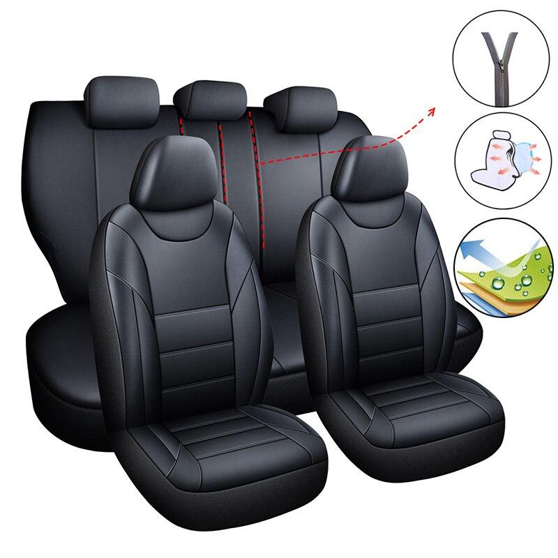 Car Seat Cover Set Universal Covers For Car Auto For Nissan Navara D40 Note Primera P12 PULSAR QASHQAI J10 J11 2011 2017 2018