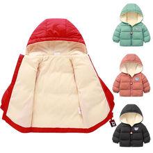 Детские зимние хлопковые бархатные парки для маленьких мальчиков, куртки для детей, верхняя одежда, одежда, толстовки с капюшоном для маленьких девочек, пальто, одежда