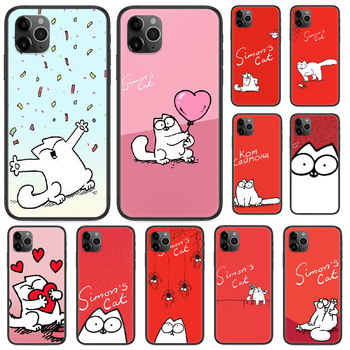 cartoon Simons cat Phone case For iphone 4 4s 5 5S SE 5C 6 6S 7 8 plus X XS XR 11 PRO MAX 2020 black shell art back silicone image