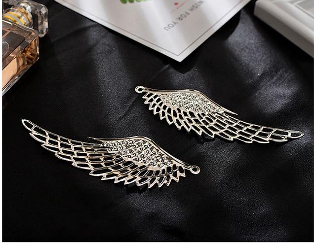 6pcs/lot Angel Wings  Gold/silver/Bronze Filigree Wing Charm Pendants / Hair tools/ DIY 70mm x 24mm,110mm x 37mm