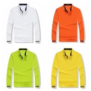 Image 5 - High Quality Men Polo Shirt Fall Long Sleeve Solid Large Size Top Fall Polos Shirt Fashion Popular Casual Couple clothing Custom